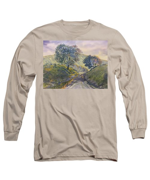 Evening Stroll In Millington Dale Long Sleeve T-Shirt