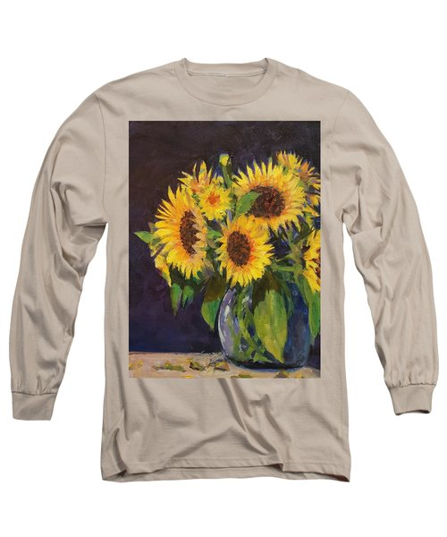 Evening Table Sun Flowers Long Sleeve T-Shirt