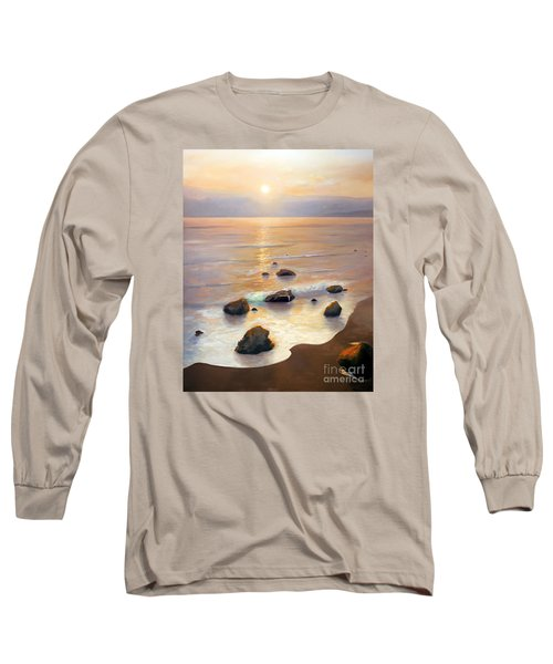 Long Sleeve T-Shirt featuring the painting Eventide by Michael Rock