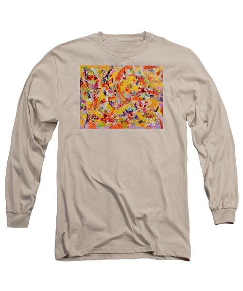 Long Sleeve T-Shirt featuring the painting Everywhere There Are Fish by Lyn Olsen