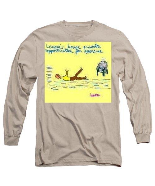 Excercise Long Sleeve T-Shirt by Lenore Senior