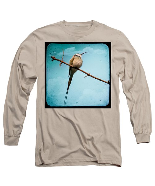 Long Sleeve T-Shirt featuring the photograph Exotic Birds - White Throated Bee Eater by Gary Heller