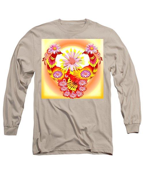 Exotic Peacocks Long Sleeve T-Shirt by Belinda Threeths