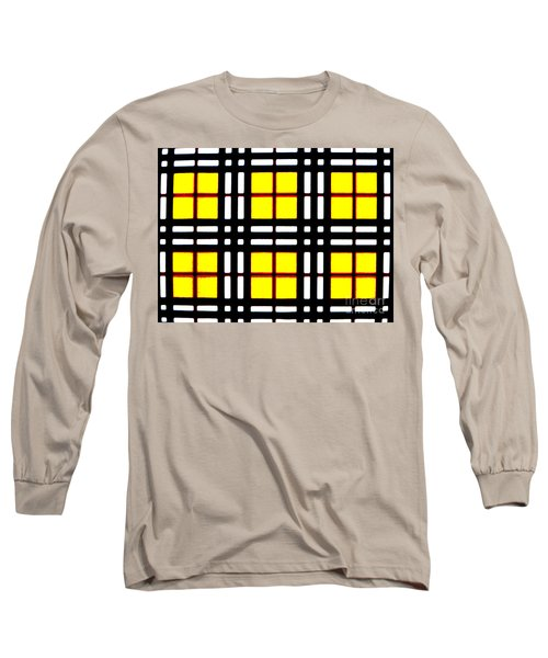 Expanding Plaid Long Sleeve T-Shirt
