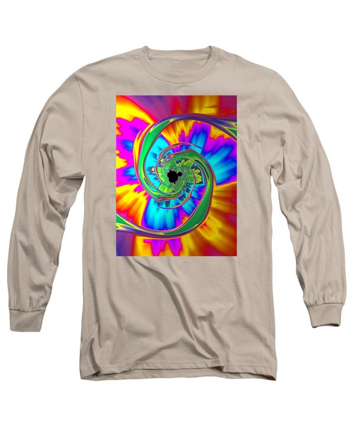 Long Sleeve T-Shirt featuring the photograph Eye Of The Rainbow by Ronda Broatch