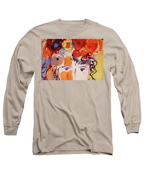Eyes And Flowers Long Sleeve T-Shirt by Amara Dacer