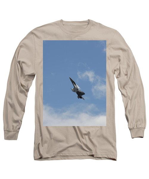 Long Sleeve T-Shirt featuring the photograph F/a-18 Fighter Fast Climb by Aaron Berg