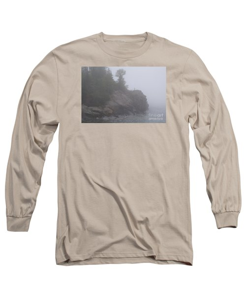 Long Sleeve T-Shirt featuring the photograph Facing The Fog by Sandra Updyke