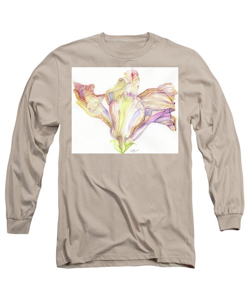 Faded Hibiscus Long Sleeve T-Shirt by Nadine Dennis