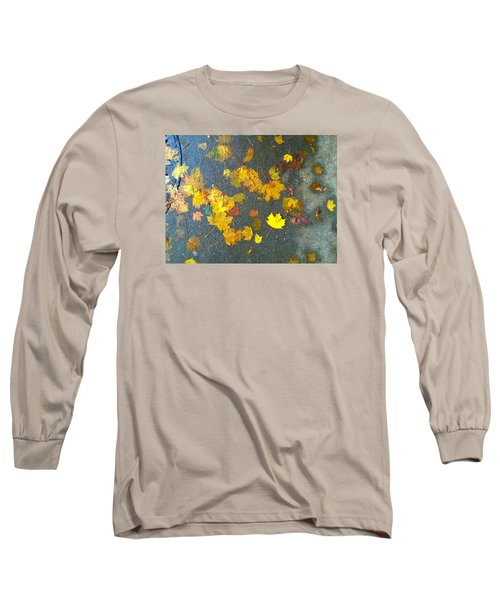 Fading Leaves Long Sleeve T-Shirt by Suzanne Lorenz