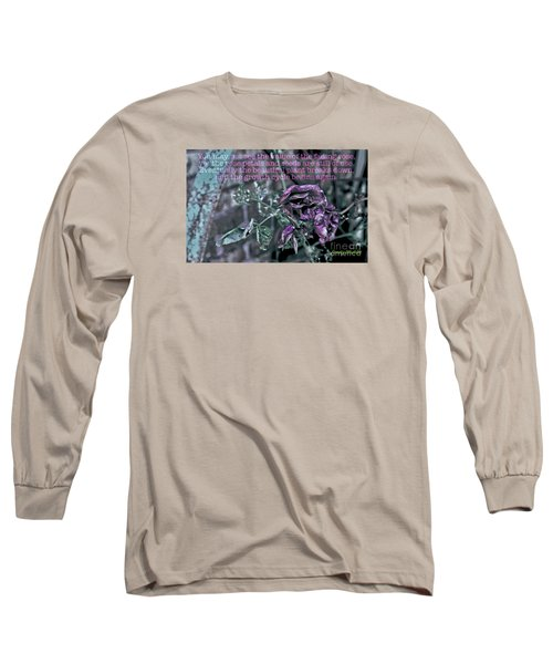 Fading Rose Long Sleeve T-Shirt by Sandy Moulder