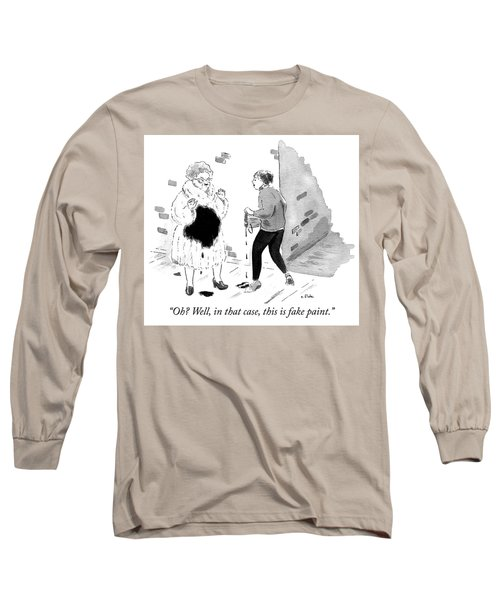 Fake Paint Long Sleeve T-Shirt