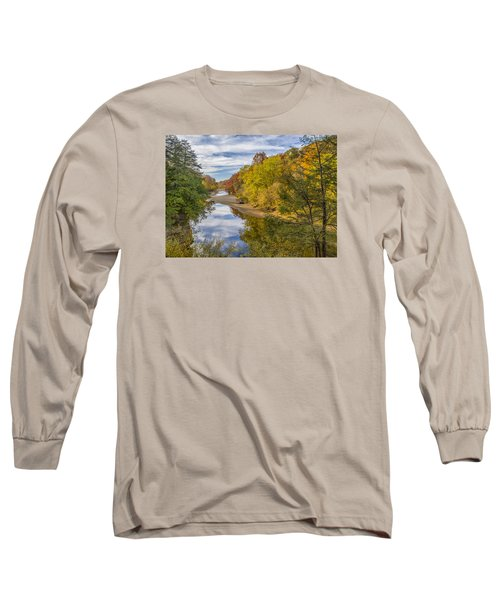 Fall At Turkey Run State Park Long Sleeve T-Shirt by Alan Toepfer