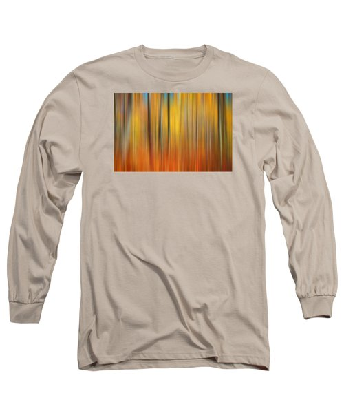 Fall Colors Digital Abstracts Long Sleeve T-Shirt by Rich Franco