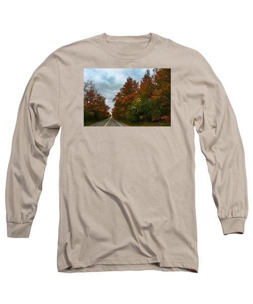 Fall Colors Dramatic Sky Long Sleeve T-Shirt