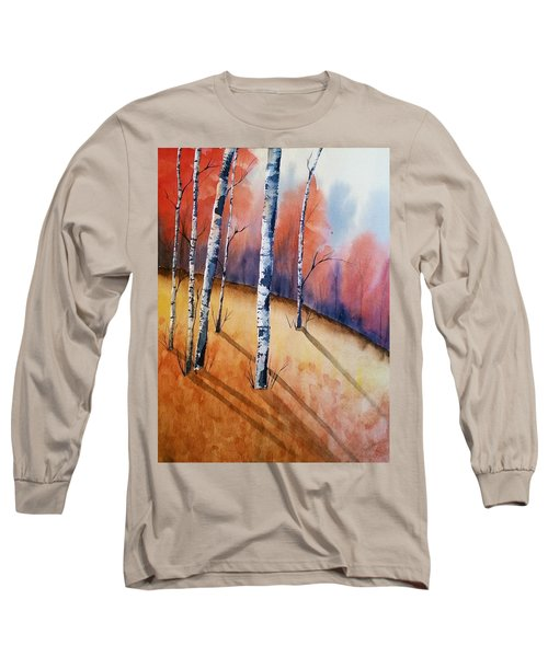 Fall In The Birches Long Sleeve T-Shirt