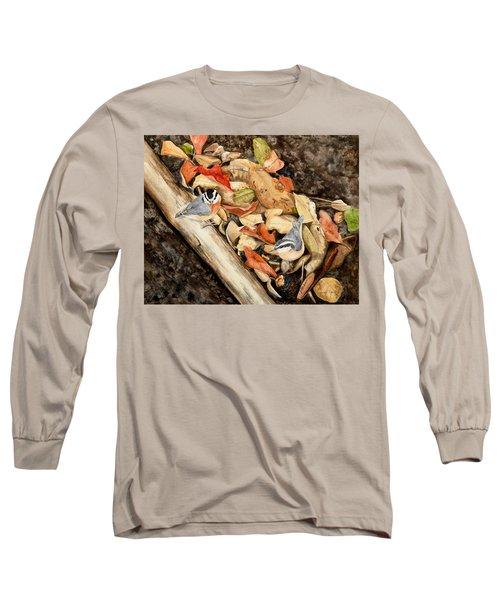 Fall Nuthatch Pair Long Sleeve T-Shirt