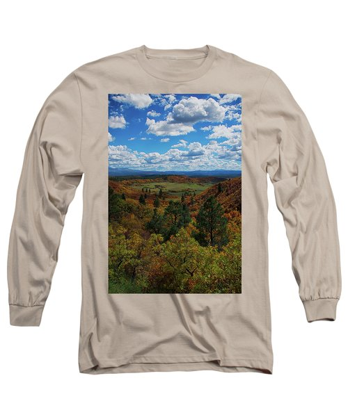 Fall On Four Mile Road Long Sleeve T-Shirt by Jason Coward