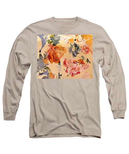 Fall Roses Long Sleeve T-Shirt by Nancy Kane Chapman