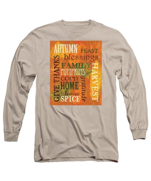 Fall Typography 1 Long Sleeve T-Shirt