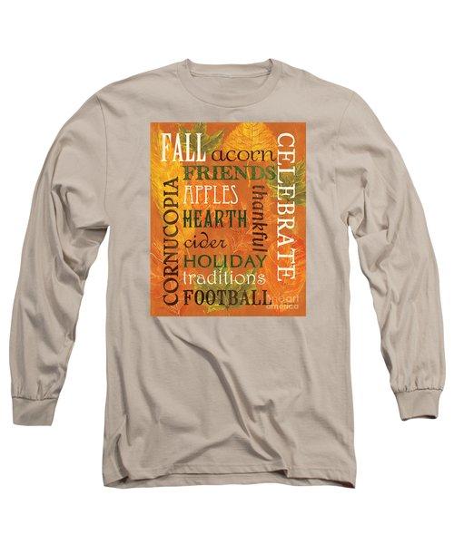 Fall Typography 2 Long Sleeve T-Shirt