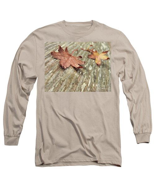 Long Sleeve T-Shirt featuring the photograph Fallen Leaves by Peggy Hughes