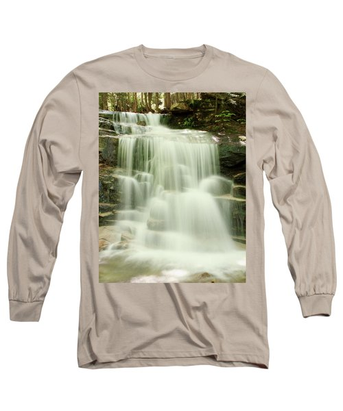 Long Sleeve T-Shirt featuring the photograph Falling Waters by Roupen  Baker