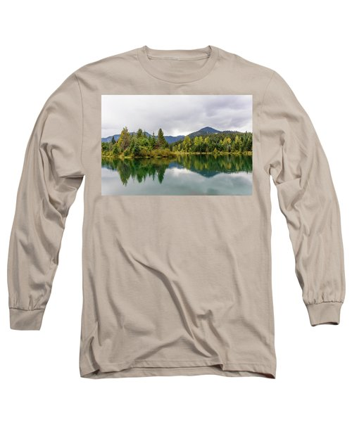 Falls Colors In Gold Creek Pond Long Sleeve T-Shirt