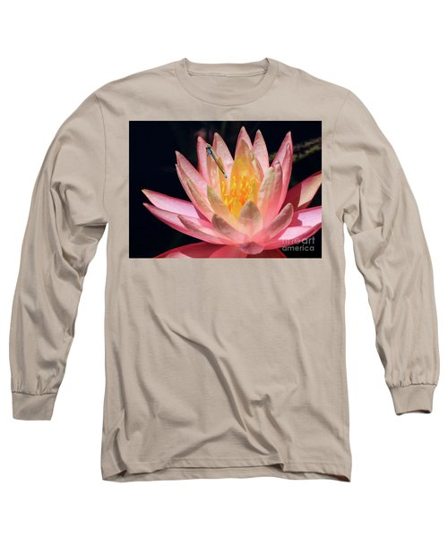Familiar Bluet Damselfly And Lotus 2 Long Sleeve T-Shirt