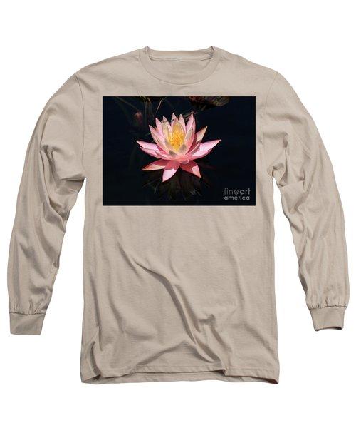 Familiar Bluet Damselfly And Lotus  Long Sleeve T-Shirt