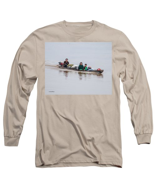 Family Boat On The Amazon Long Sleeve T-Shirt