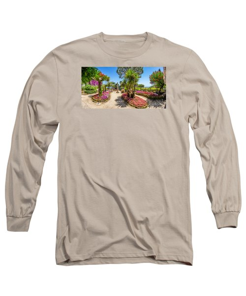 Famous Villa Rufolo Gardens In Ravello At Amalfi Coast, Italy Long Sleeve T-Shirt by JR Photography
