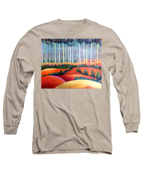 Long Sleeve T-Shirt featuring the painting Through The Mist by Elizabeth Fontaine-Barr