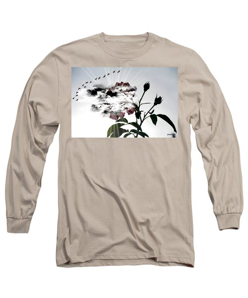 Far Beyond What Eyes Can See Long Sleeve T-Shirt by Paulo Zerbato