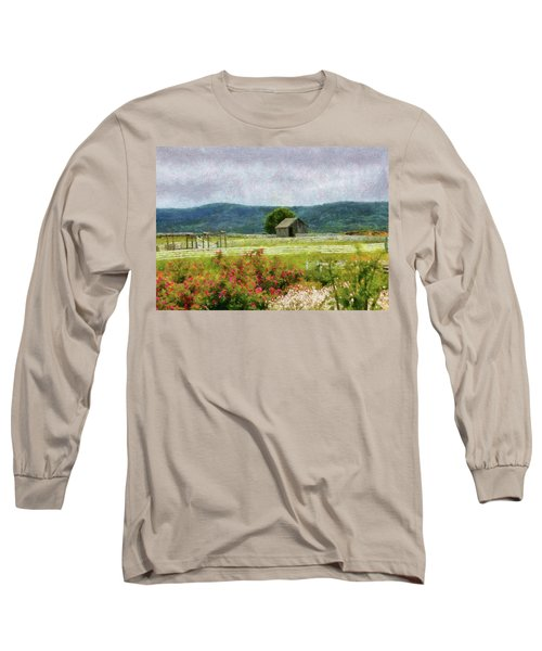 Farm - Barn - Out In The Country  Long Sleeve T-Shirt