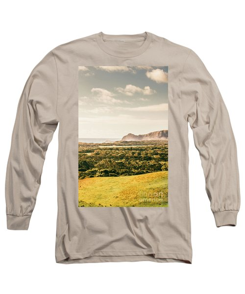 Farm Fields To Seaside Shores Long Sleeve T-Shirt