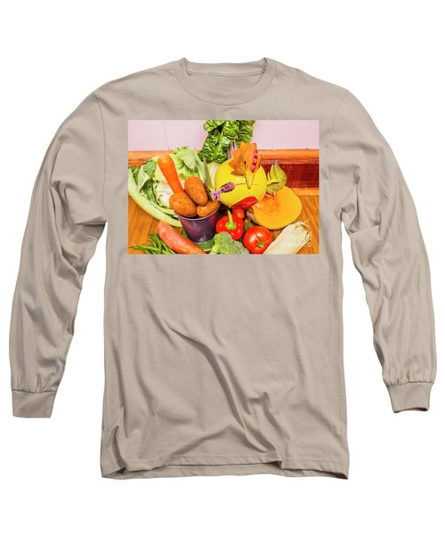 Farm Fresh Produce Long Sleeve T-Shirt by Jorgo Photography - Wall Art Gallery