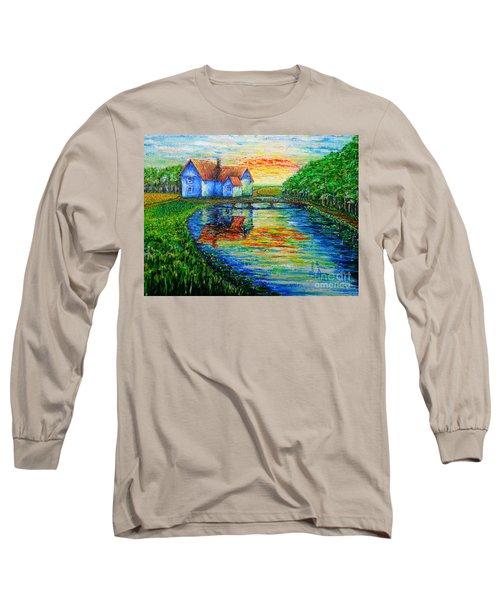 Farm House Long Sleeve T-Shirt by Viktor Lazarev