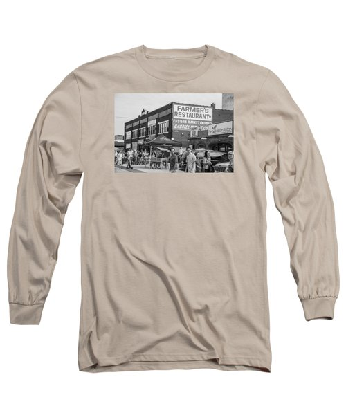 Farmers Restaurant In Detroit Black And White  Long Sleeve T-Shirt