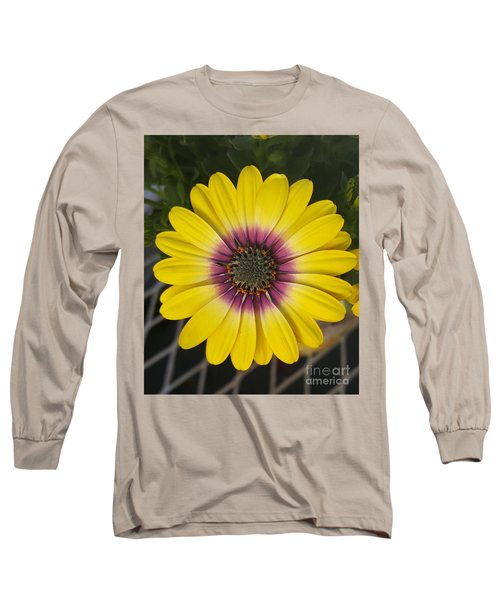 Fascinating Yellow Flower Long Sleeve T-Shirt by Jasna Gopic