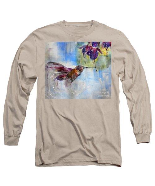 Fast Fuchsia Checkout Long Sleeve T-Shirt by Lisa Kaiser