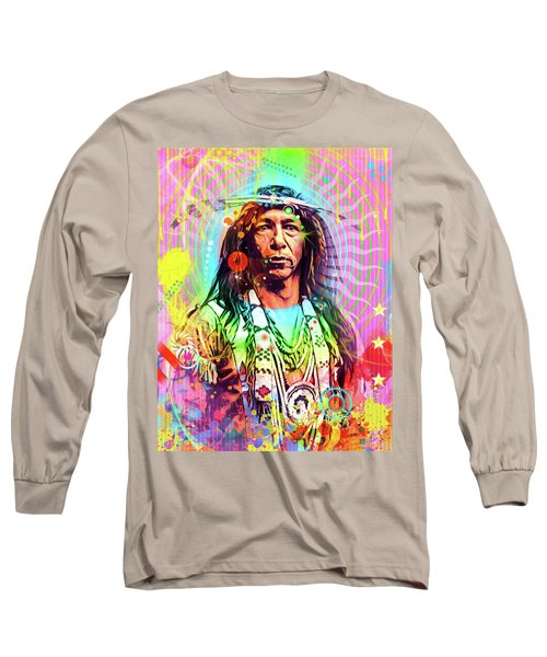 Feather Chief Long Sleeve T-Shirt by Gary Grayson