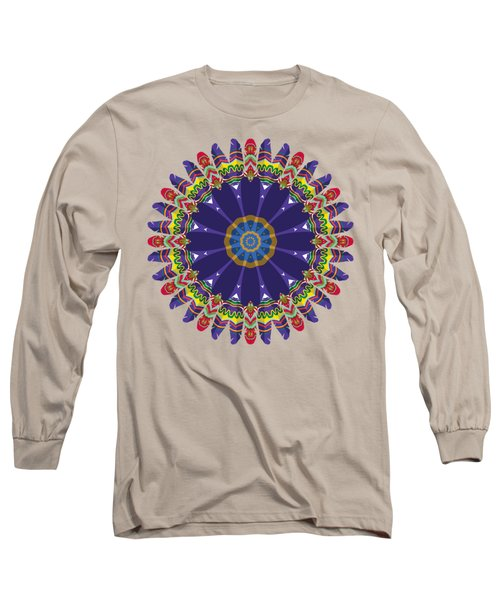 Feathers In The Round Long Sleeve T-Shirt by Mary Machare