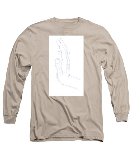 Feel The Force - Illustration Of A Hand Long Sleeve T-Shirt