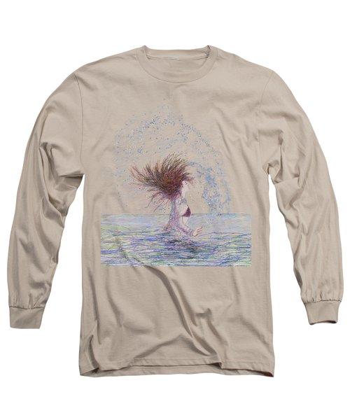 Feeling The Energy Of The Sea Sketch Long Sleeve T-Shirt