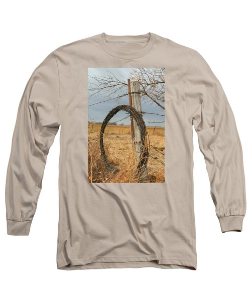 Fencing With My Dad Long Sleeve T-Shirt by Shirley Heier