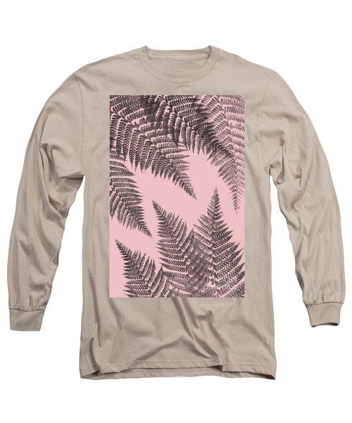 Ferns On Blush Long Sleeve T-Shirt