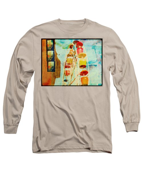 Ferris Wheel Fun Long Sleeve T-Shirt by Toni Hopper