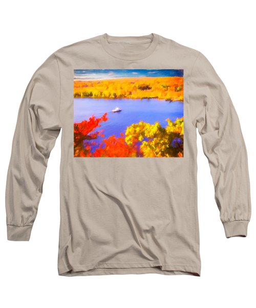 Ferry Crossing Connecticut River. Long Sleeve T-Shirt