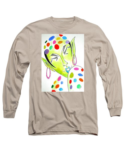 Fey -- The Original -- Fantasy Elf Portrait With Polka Dots Long Sleeve T-Shirt